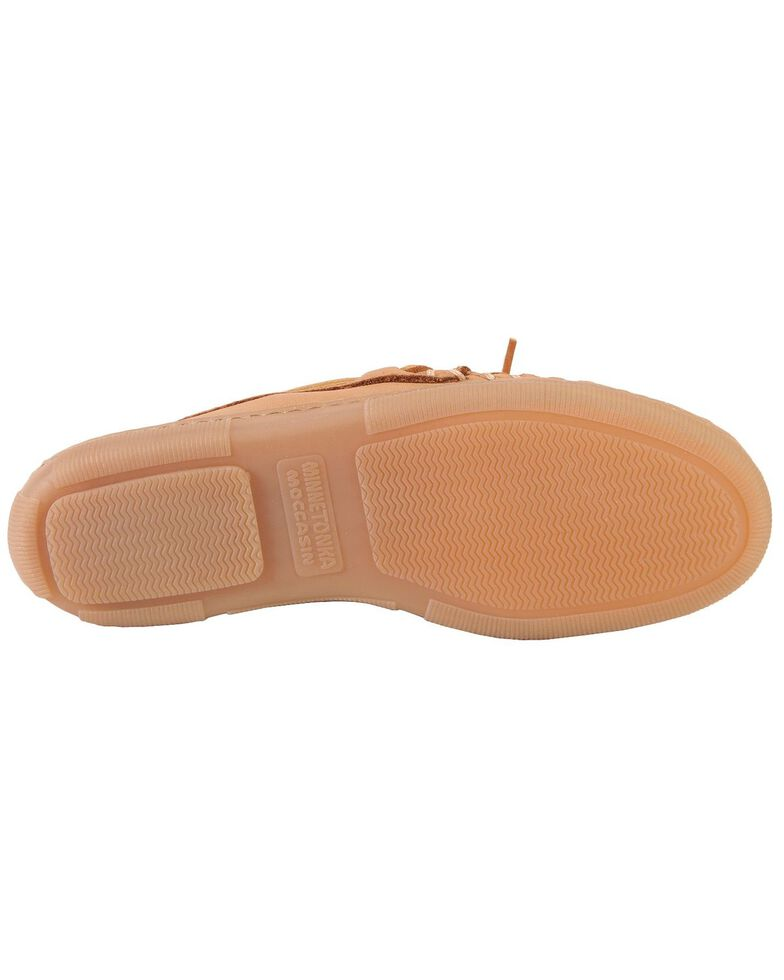 Men's Minnetonka Moosehide Classic Moccasins - Wide, Natural, hi-res