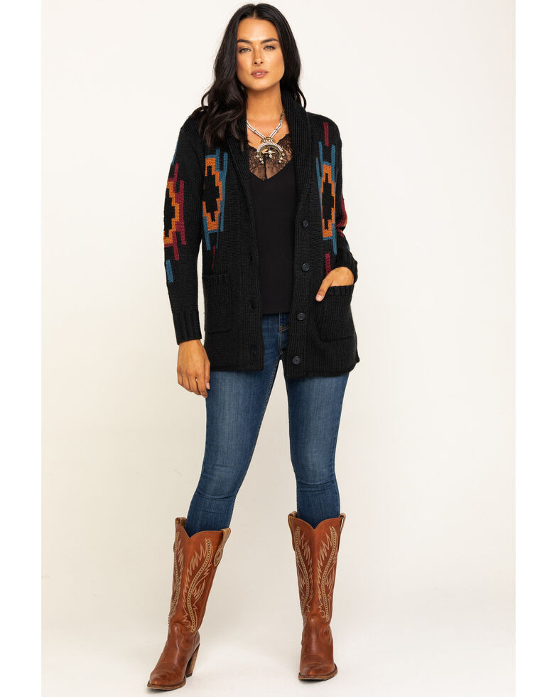 Idyllwind Women's Aztec Midnight Cardigan, Black, hi-res
