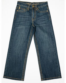 Cody James Boys' 4-8 Dark Rodeo Relaxed Bootcut Jeans - Little , Blue, hi-res