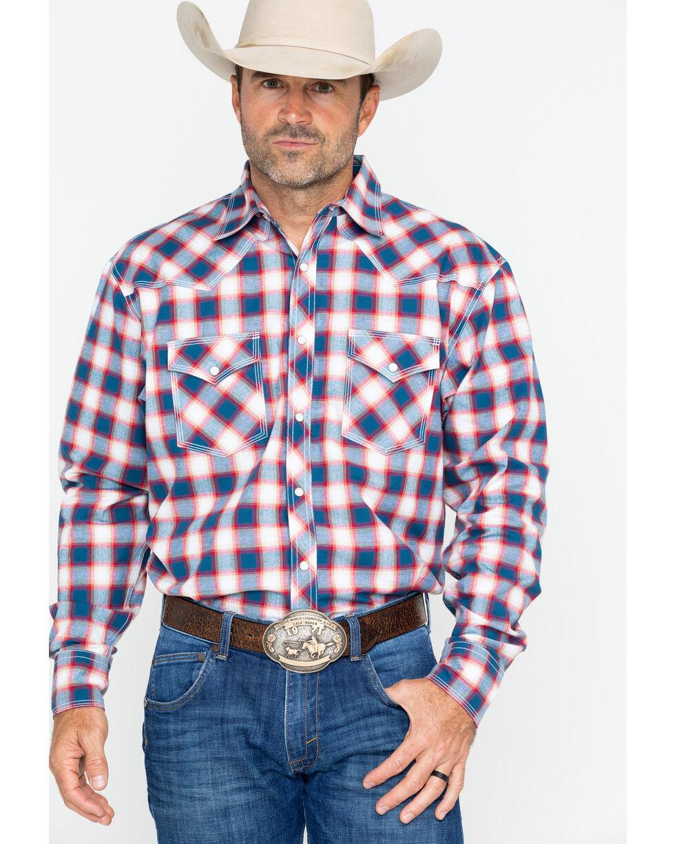 Wrangler 20X Men's Blue Long Sleeve Advanced Competition Shirt , Blue, hi-res