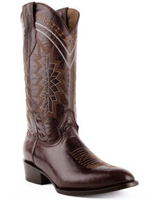 Ferrini Men's Apache Western Boots - Round Toe, Chocolate, hi-res