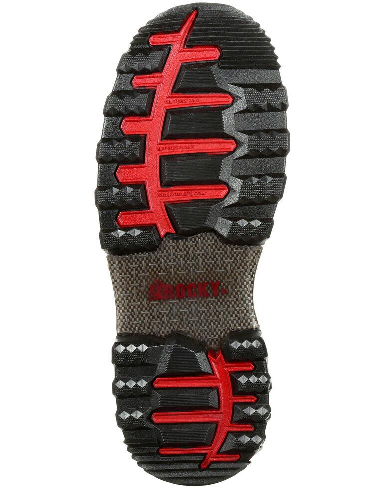 """Rocky Men's XO-Toe Waterproof 8"""" Work Boots - Composite Toe, Brown, hi-res"""