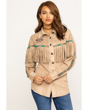 Tasha Polizzi Women's Bisbee Jacket, Tan, hi-res