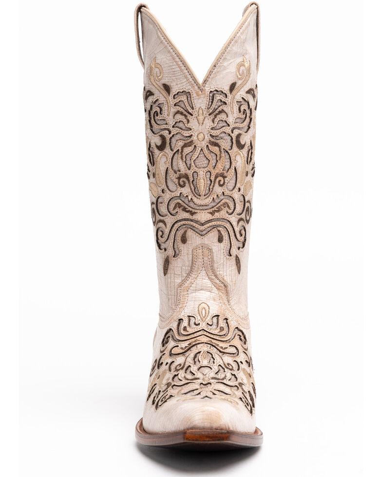 Shyanne Women's Natalie Western Boots - Snip Toe, Ivory, hi-res