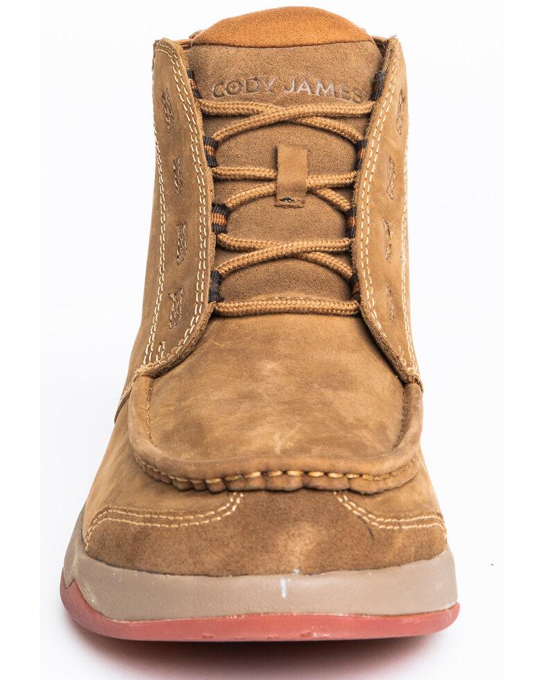 Cody James Men's Tan Chelsea Boots - Moc Toe, Tan, hi-res
