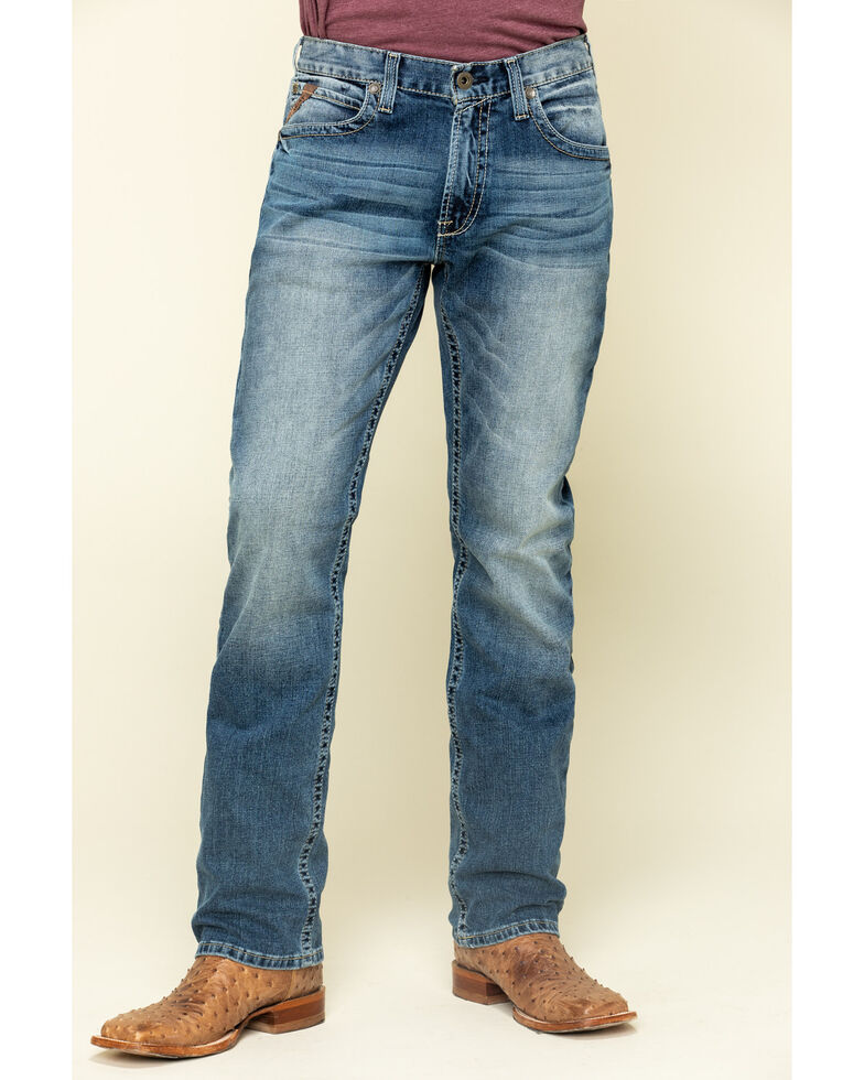 Ariat Men's M4 Dakota Low Stretch Stackable Slim Straight Jeans , Blue, hi-res
