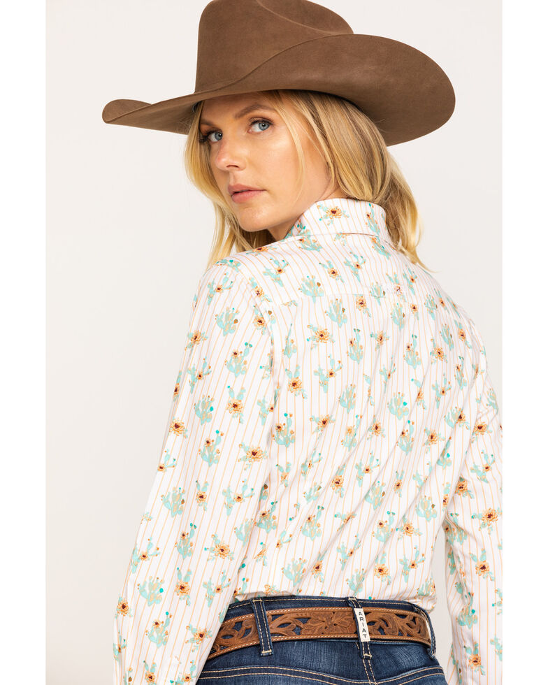 Ariat Women's Cactus Blossom Kirby Stretch Long Sleeve Western Shirt , Multi, hi-res