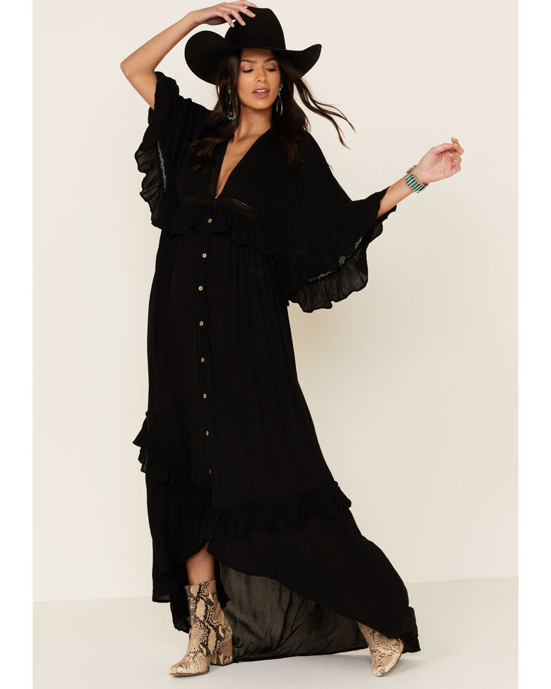 Free People Women's Paradiso Maxi Dress, Black, hi-res