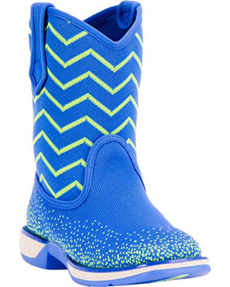 Laredo Kids' Ziggy Performair Western Boots, Blue, hi-res
