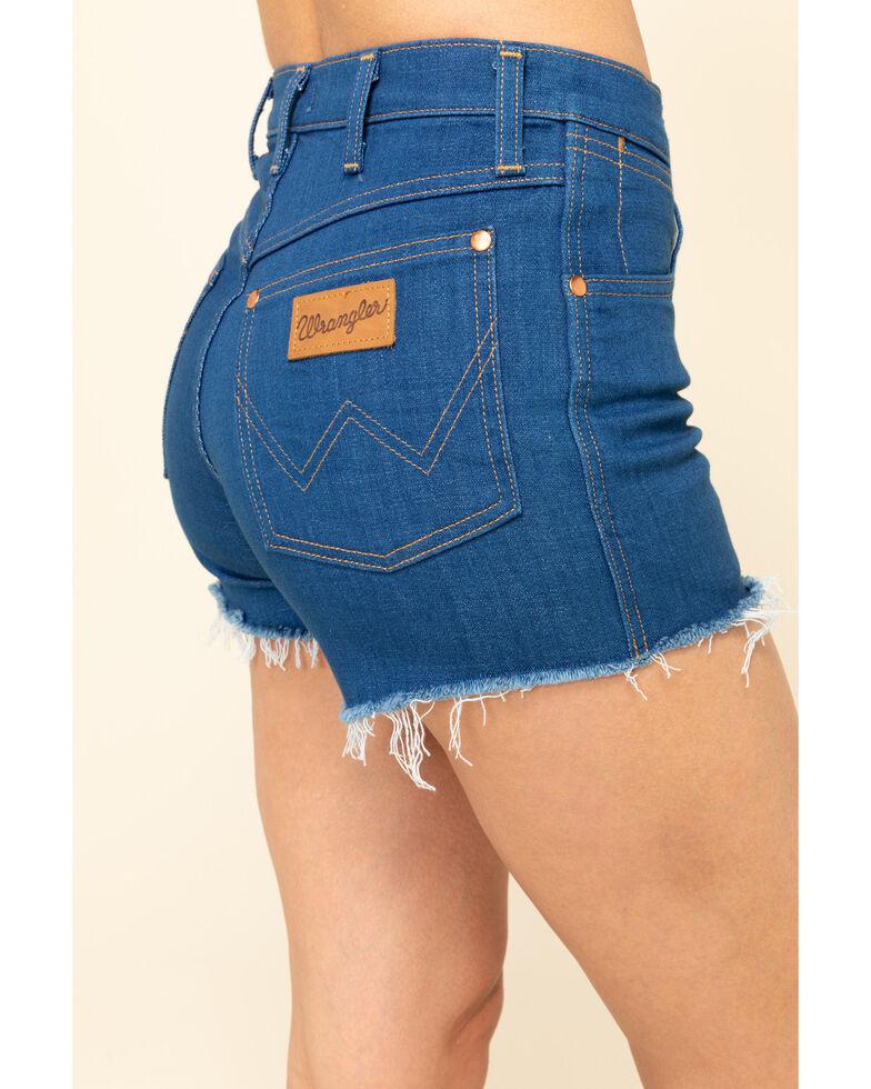 Wrangler Modern Women's Dark Wash Cut Off Shorts, Blue, hi-res