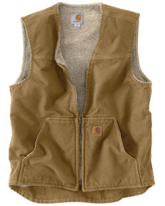 Carhartt Men's Rugged Vest, Light Brown, hi-res