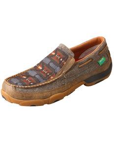 Twisted X Men's Aztec Driving Shoes - Moc Toe, Grey, hi-res