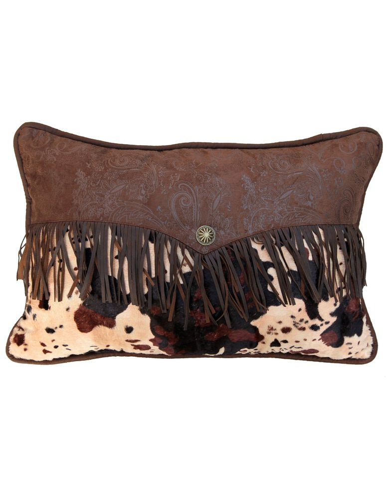 HiEnd Accents Fringed Enveloped Pillow, Multi, hi-res