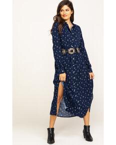 Wrangler Women's Navy Print Duster Dress, Navy, hi-res