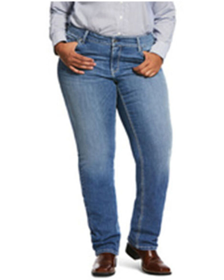 Ariat Women's Odessa Tulip R.E.AL. Straight Jeans - Plus, Blue, hi-res
