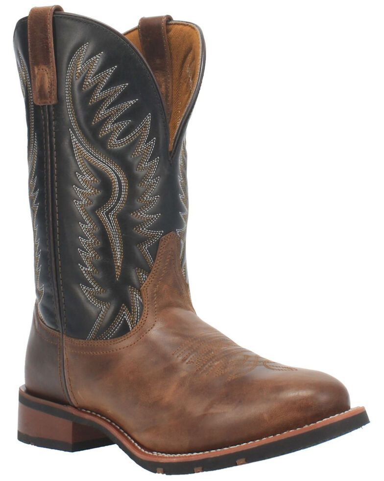 Laredo Men's Pinetop Western Boots - Round Toe, Tan, hi-res