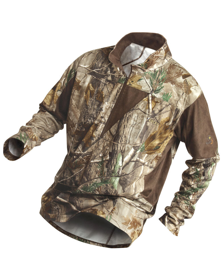 Rocky Men's SilentHunter 1/4-Zip Camo Pullover, Camouflage, hi-res