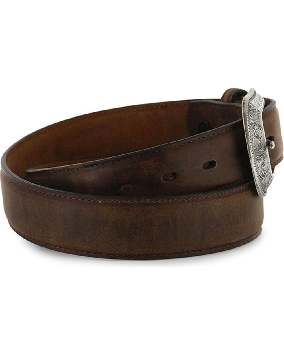 3D Belt Co  Men's Genuine Leather Belt, Brown, hi-res