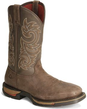 Rocky Men's Long Range Steel Toe Western Boots, Coffee, hi-res