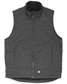 Berne Men's Torque Ripstop Zip Front Work Vest - Big , Grey, hi-res