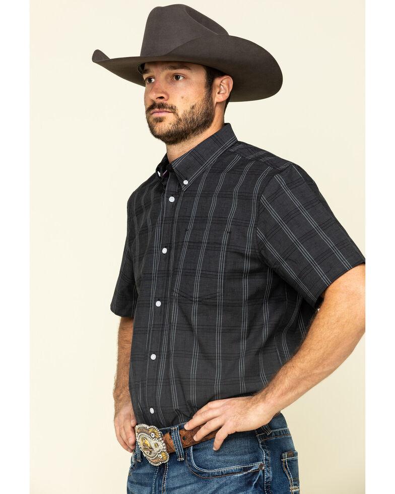 Cody James Core Men's Make It Pay Large Plaid Short Sleeve Western Shirt , Black, hi-res