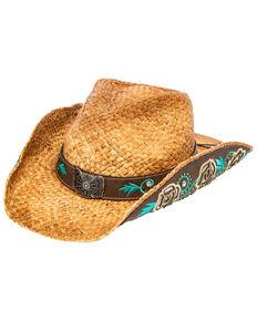 Shyanne Women's Makenna Straw Hat, Beige/khaki, hi-res