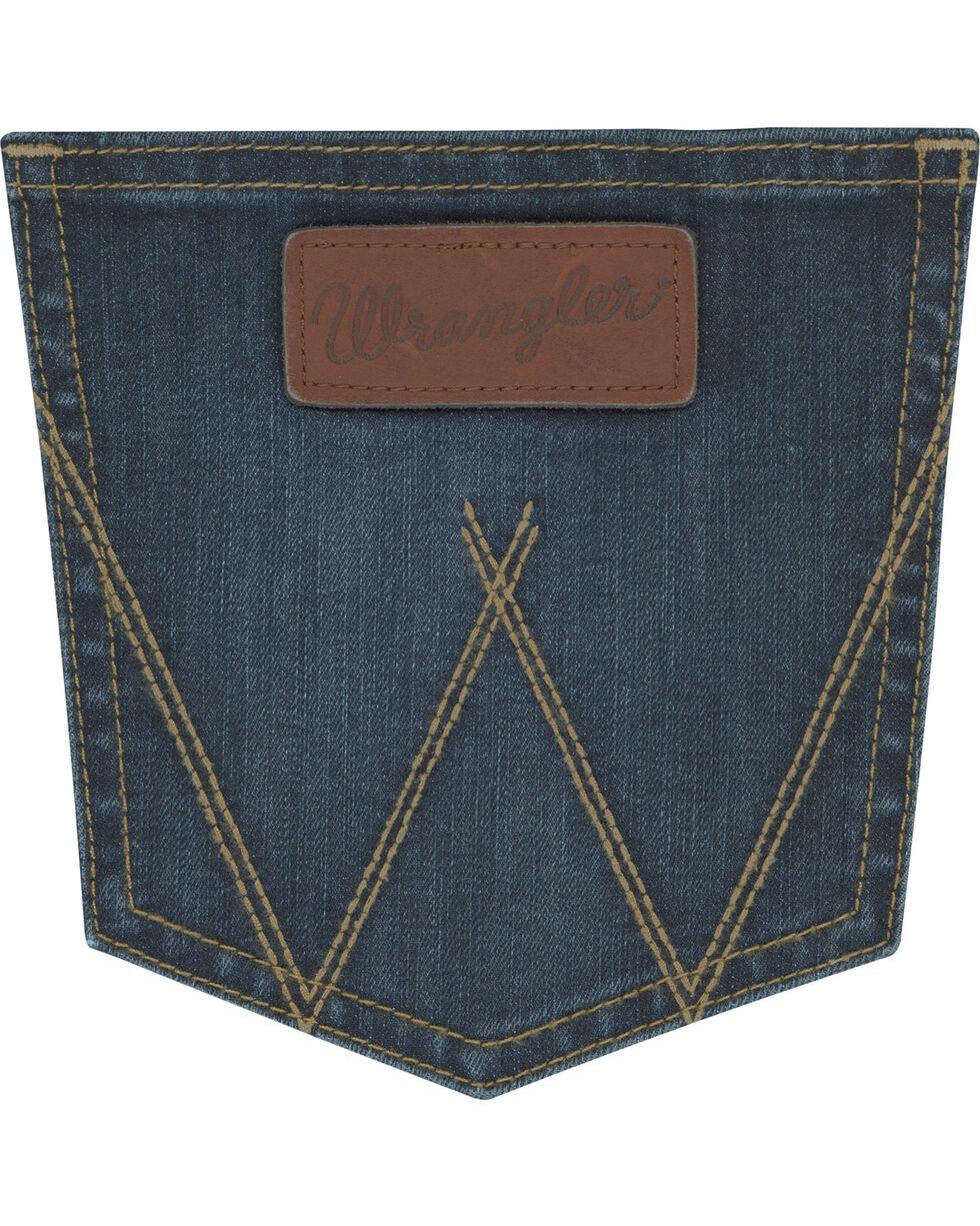 Wrangler Retro Men's Blue Stretch Denim Jeans - Skinny , Blue, hi-res