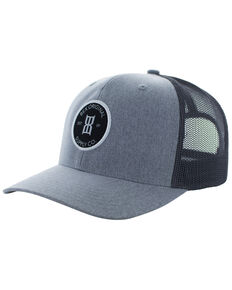Bex Men's Round Patch Baseball Cap, Grey, hi-res
