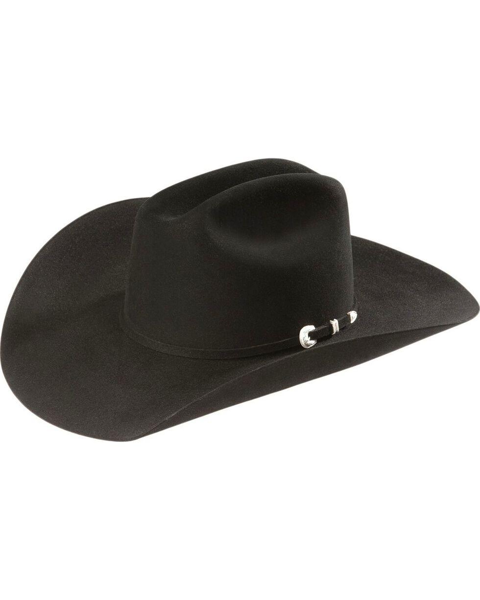 Resistol 7X Fur Felt Western Hat, Black, hi-res
