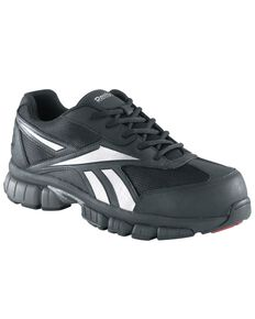 Reebok Men's Ketia Athletic Oxford Work Shoes - Composite Toe, Black, hi-res