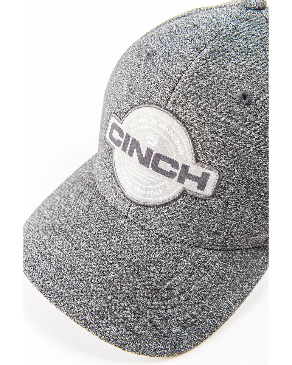 Cinch Men's Grey Flexfit Circle Patch Cap, Grey, hi-res