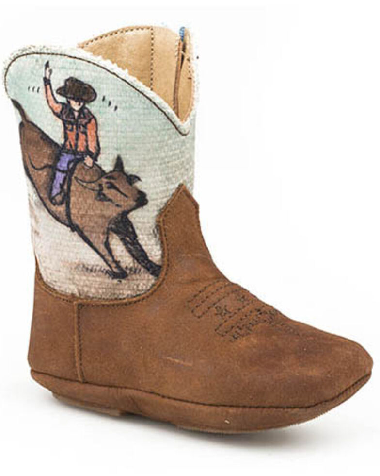 Roper Infant Boys' Bull Rider Poppet Boots, Brown, hi-res