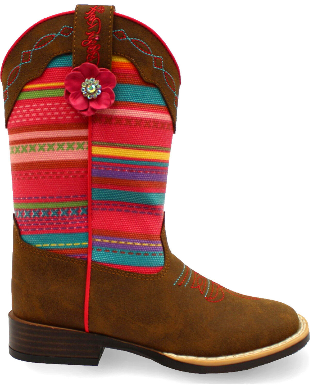 Man Made Blazin Roxx Girls Emily Square Toe Boots