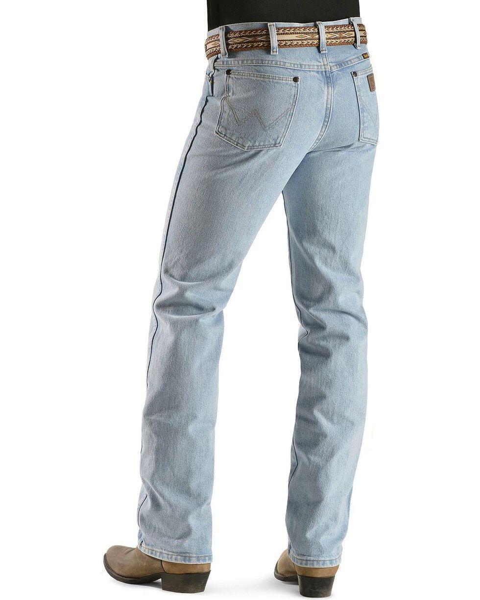 Wrangler Men's Cowboy Cut Slim Fit Jeans, Bleach Indigo, hi-res