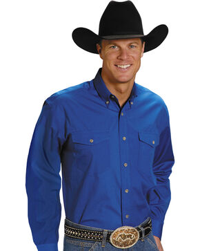 Roper Amarillo Collection Western Shirt, Royal, hi-res
