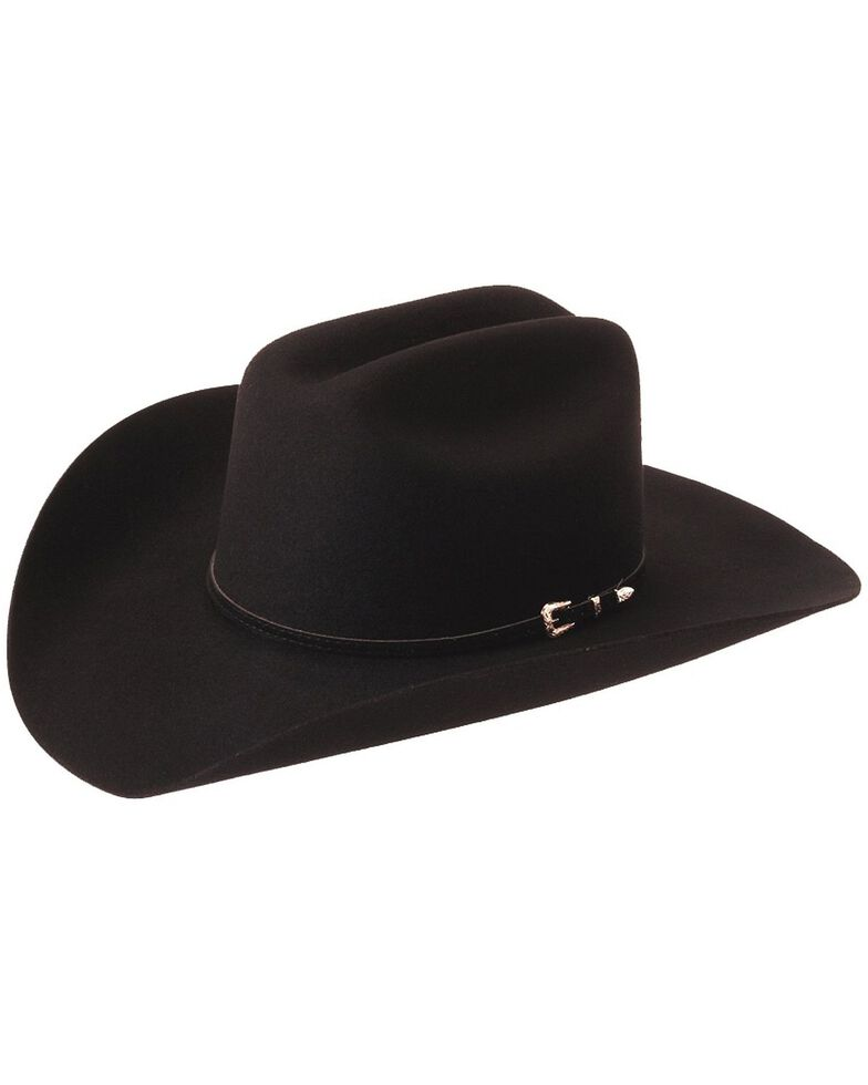 Silverado Gold-Tone Buckle Band Wool Felt Cowboy Hat, Black, hi-res