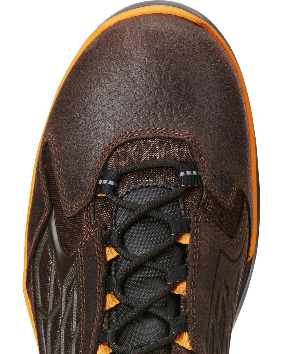 "Ariat Men's Chocolate Rebar Flex 6"" Work Boots - Round Toe , Chocolate, hi-res"