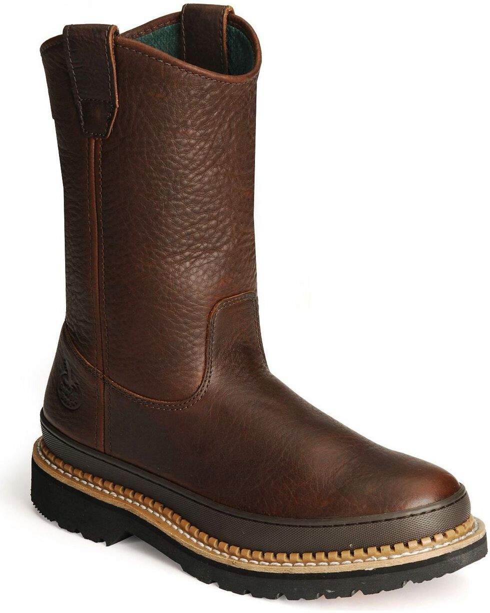 Georgia Men's Wellington Giant Work Boots, Brown, hi-res