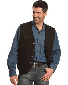 Wyoming Traders Men's Black Texas Concealed Carry Vest, Black, hi-res
