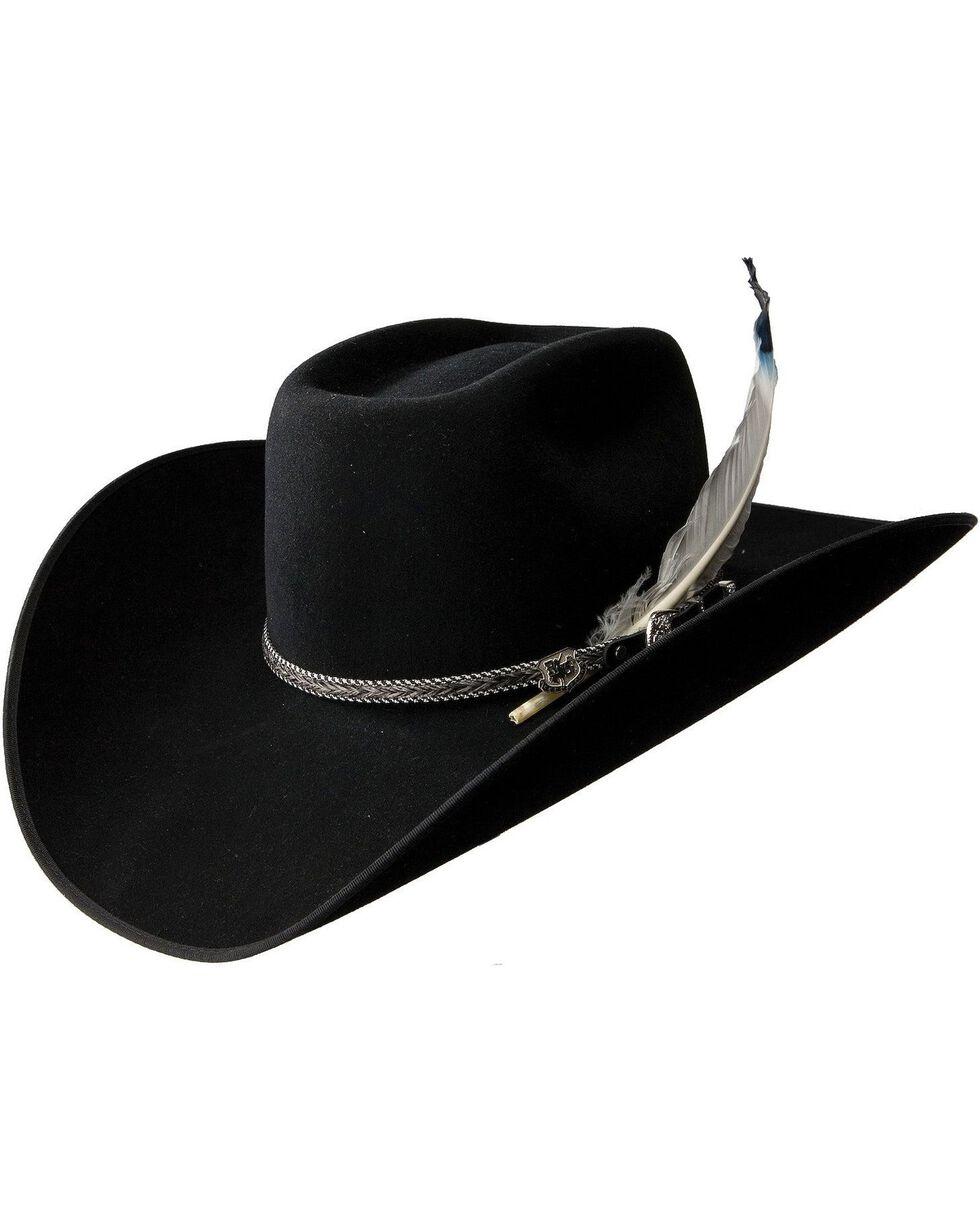 Resistol Bull Bash B 3X Wool Hat, Black, hi-res