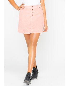 White Crow Women's Corduroy Mini Skirt , Blush, hi-res