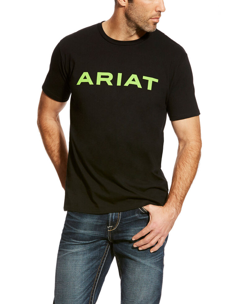 Ariat Men's Black Branded Graphic Short Sleeve T-Shirt , Black, hi-res