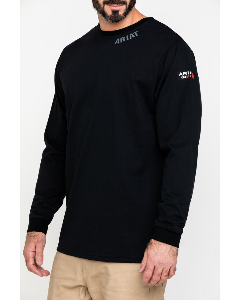 Ariat Men's Black FR Heartland Graphic Long Sleeve Work T-Shirt , Black, hi-res