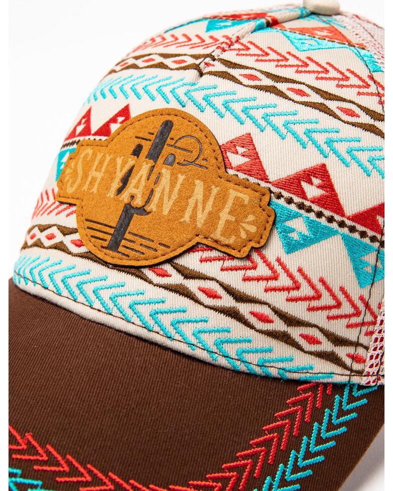 Shyanne Women's Embroidered Aztec Cactus Print Ball Cap, , hi-res