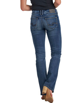 Silver Women's Suki Dark Wash Slim Boot Cut Jeans, Indigo, hi-res
