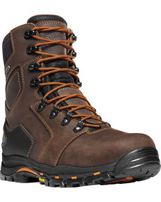 "Danner Men's Vicious 8"" Work Boots , Brown, hi-res"