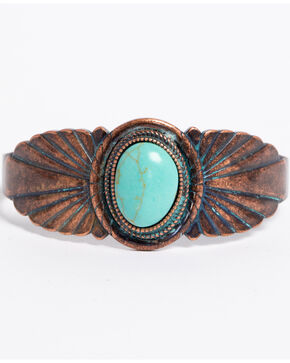 Shyanne Women's Sage Brush Statement Cuff, Turquoise, hi-res
