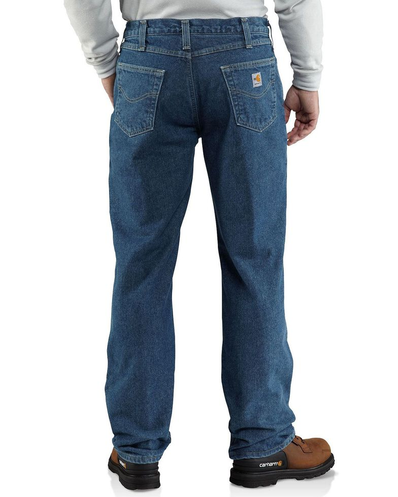 Carhartt Flame Resistant Relaxed-Fit Work Jeans, Midstone, hi-res
