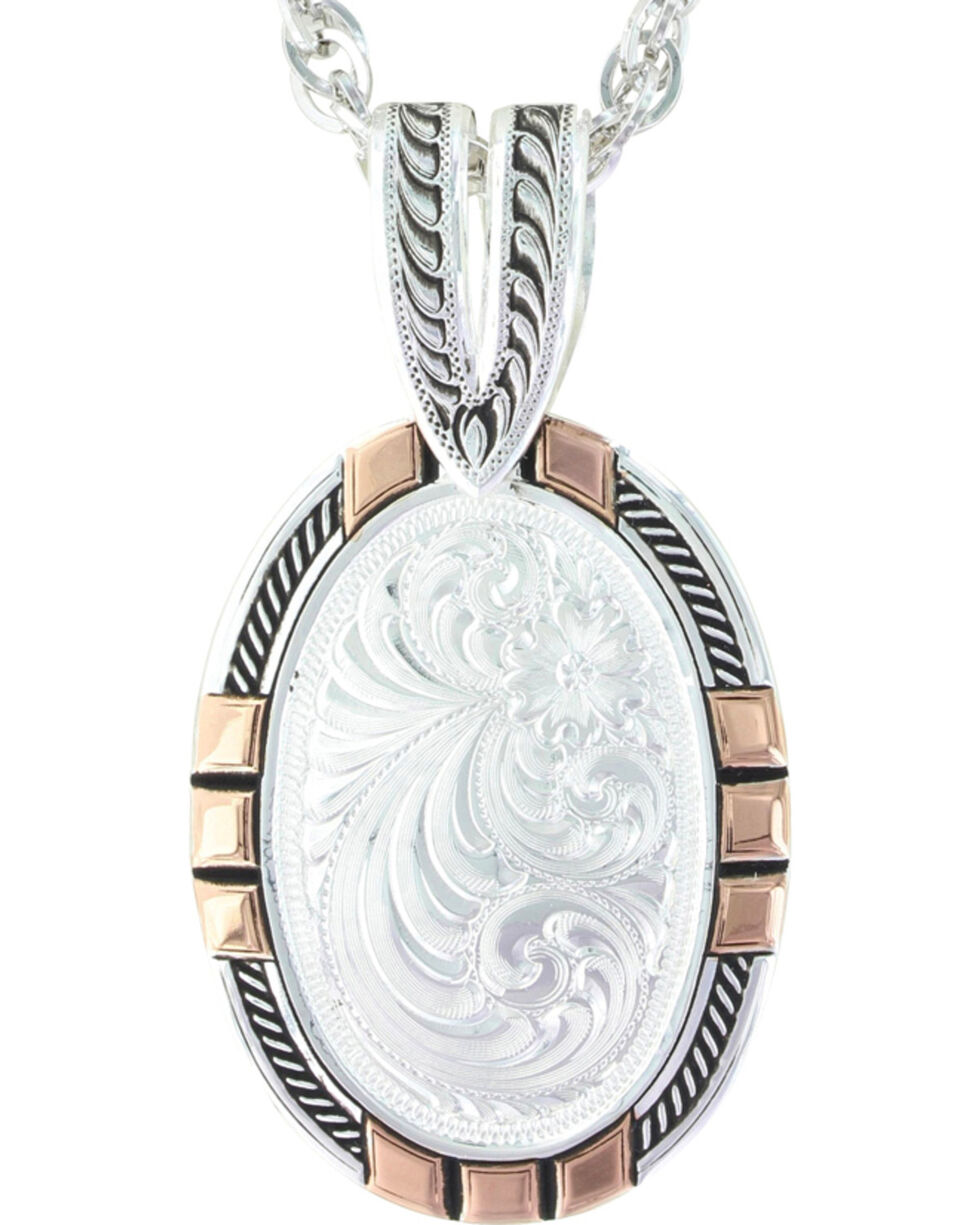 Montana Silversmiths Women's New Traditions Rose Gold Pendant Necklace , Silver, hi-res