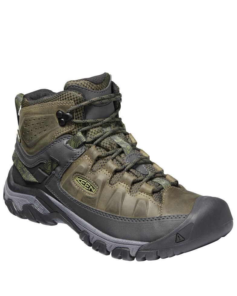 Keen Men's Targhee III Waterproof Hiking Boots - Soft Toe, Green, hi-res